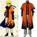Anime Naruto Cosplay Individual Naruto Uzumaki Naruto 6th Hokage de los hombres traje de Cosplay-envío gratuito