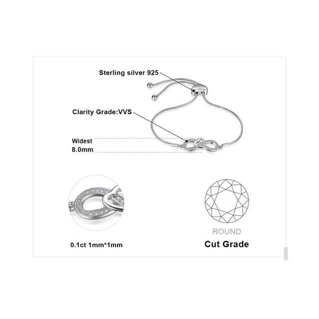 Infinite Love Sterling Silver Bracelet