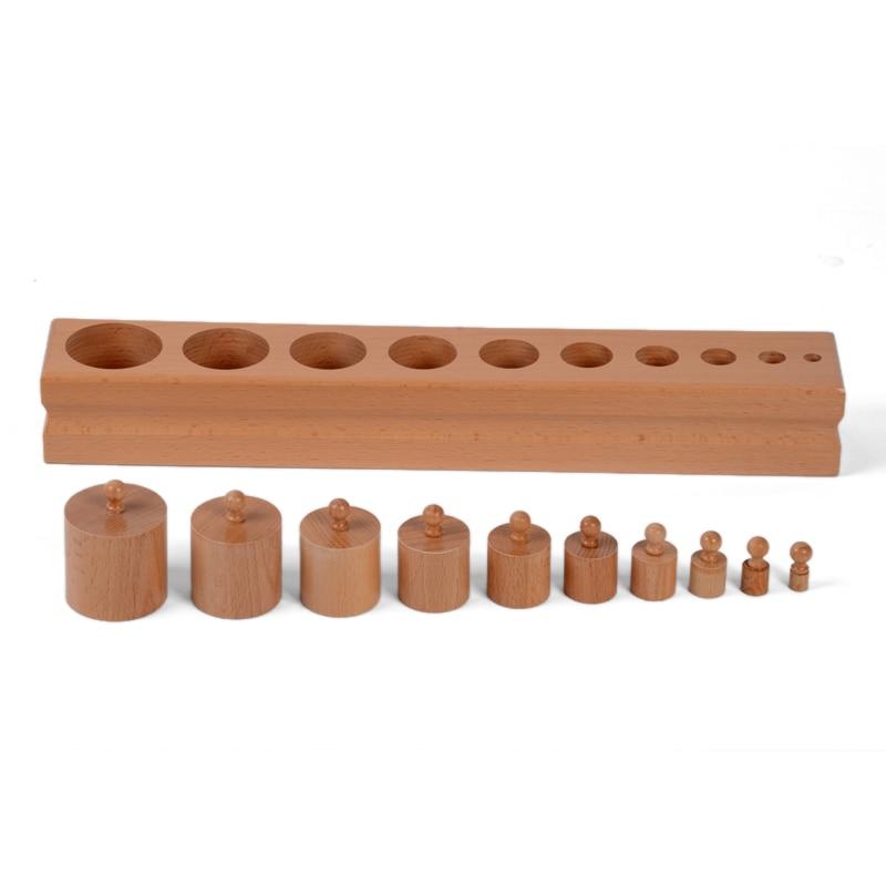 Bébé Jouet Montessori Monocylindre 2 Sensorielle Formation Préscolaire Éducation de la Petite Enfance Brinquedos Juguetes - 2