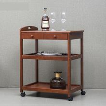 Резиновая массивная деревянная многофункциональная машина для чайной столовой, многослойная Винная Корзина, Кухонная Тележка для дома, отеля, ресторана