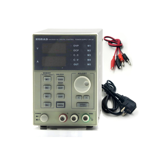 KORAD KA3005D high precision Adjustable Digital DC Power Supply 4Ps mA 30V/5A for scientific research service Laboratory