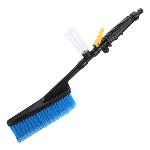 Image 2 - Long Handle Car Soft Wash Brush Cleaning Tool Water Flow Switch Foam Bottle Spray Wheel Car Body Windshield Washing Brush