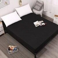 Smooth Waterproof Mattress Cover Anti Mites Mattress Pad Bed Cover Waterproof Bed Sheet Bed Bug Proof Mattress Topper 30cm high