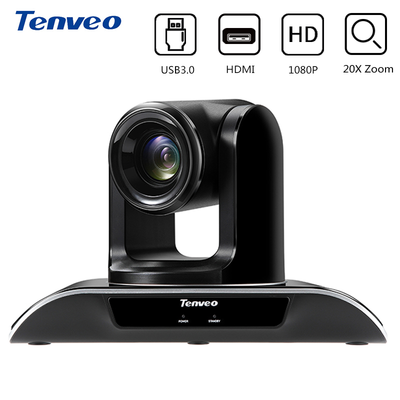 Tenveo VHD203U 1920x1080 full HD 20X Optique Zoom Caméra PTZ Vidéo Conférence Caméra USB 3.0 Sortie HDMI pour réunion d'affaires