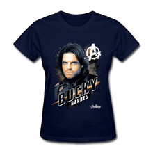 Avengers Bucky Women's Tshirts Top Quality Crew Neck Cotton Tops & Tees 3D Printed Clothing Shirt Spiderman Might T Shirt