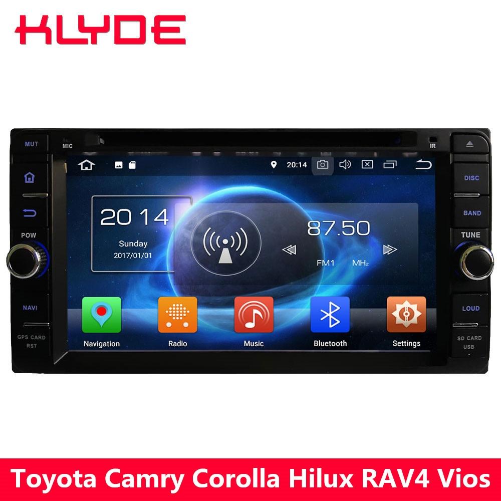 KLYDE 4G Octa Core 4GB RAM+32GB Android 8 7.1 Car DVD Player Radio For Toyota RAV4 Terios Hiace Prado Previa Crown Camry Tundra
