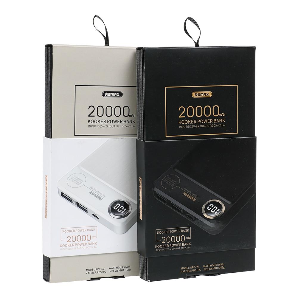 REMAX RPP-59 Power bank 20000mAh Podwójna szybka bateria polimerowa - Części i akcesoria do telefonów komórkowych i smartfonów - Zdjęcie 6