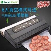 Автоматическая вакуумная пищевая герметик с бесплатными сумками импульсная функция черный бытовой лучший вакуумный мешок герметик упаков