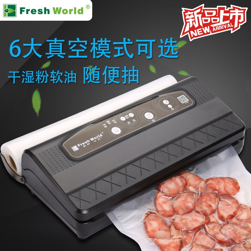 Automatic Vacuum Food Sealers With Free Bags Pulse Function Black Household Best Vacuum Bag Sealer Packaging Machine 220v 110v 220v 220v full automatic electric vacuum sealing machine dry and wet vacuum packaging machine vacuum food sealers