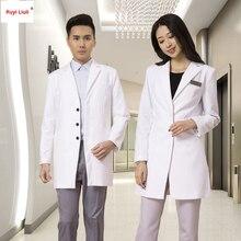 Модная Больничная одежда для медсестер с логотипом на заказ с длинным рукавом, униформа для красоты, рабочая одежда без морщин, униформа медсестры-Ruyi Liuli