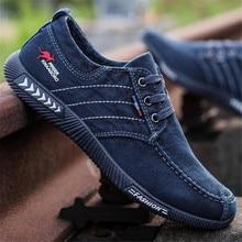 حذاء قماش الرجال الدنيم المتسكعون حذاء كاجوال الرجال أحذية رياضية الصيف الدانتيل متابعة الذكور المدربين تنفس الأحذية السوداء تنيس Masculino