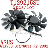 Free Shipping T129215SU 2pcs Lot 85mm 12V 0 5A For ASUS GTX780 GTX780TI R9 280X Cooling