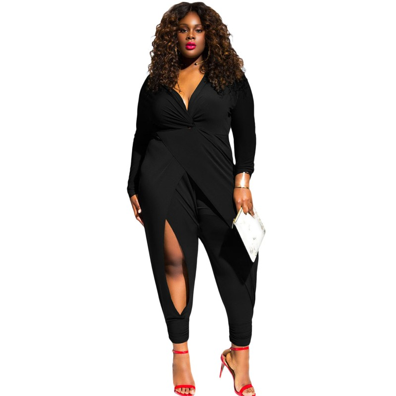 Black-Twist-Knot-Slit-Long-Sleeve-Plus-Size-Jumpsuit-LC64162-2-1_conew1