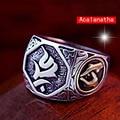 925 Vintage Thai Silver ring Tibetan OM Mani Padme Hum silver ring men's domineering ring transit 925 sterling silver ring