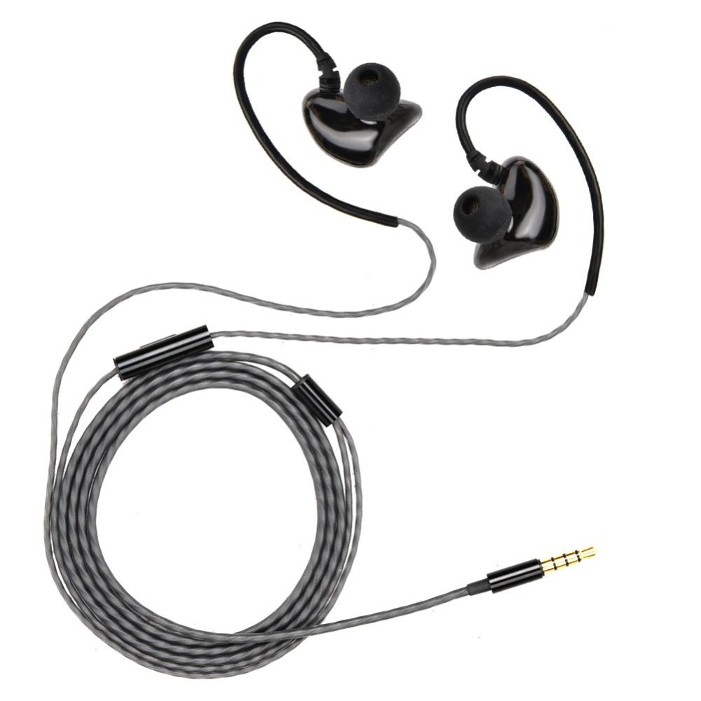 Wired In Ear Earphone Heavy Bass Music Dual Driver Headset for Mobile Phone and Laptop 1119A