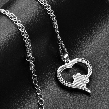 Hollow Pet Paw Prints Necklaces Cute Animal Dog cat Memorial jewelry Pet Lover Puppy Paw Heart Charm Black Enamel Necklace Girls 4