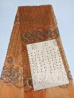 Orange Lilac African Lace Fabrics Fushia Yellow Blue Nigerian French Lace Fabric, 2017 High Quality Beaded Tulle Fabric K-D1076