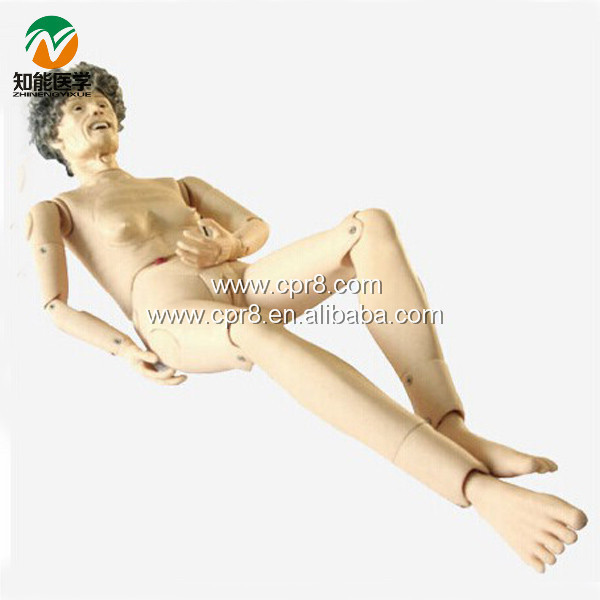 Advanced Full-featured Aged Nursing Manikin(Female)  BIX-H220B WBW027 bix h2400 advanced full function nursing training manikin with blood pressure measure w194