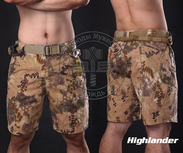 Warchief Shorts Men Camouflage Ripstop Outdoor Summer Airsoft Tactical Kryptek Mandrake Highlander Typhon Pants(STG050996)-in Hunting Pants from Sports & Entertainment    2