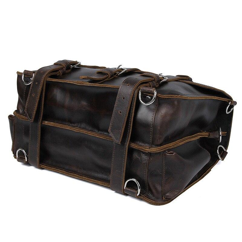 Escritório dos homens Maleta de Couro de Vaca Durável Grosso Estados Unidos Projeto Grande Viagem 17 Laptop Shoulder Crossbody Tote Bolsas Sacos - 5