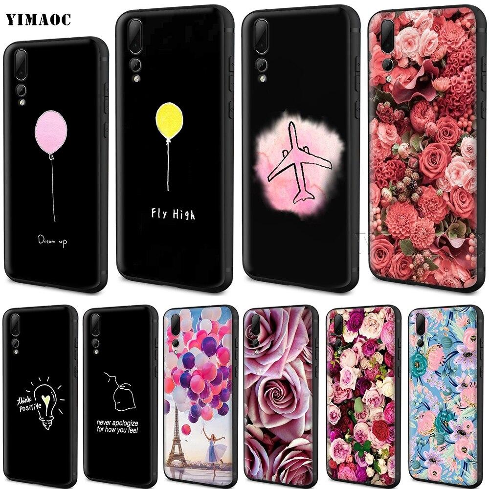 YIMAOC Balloon Girl Dream Up Silicone Case for Huawei Mate 10 P8 P9 P10 P20 Lite Pro P Smart Mini 2017