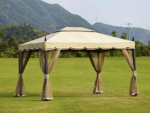 3x3.6 Meter Deluxe Aluminum Patio Gazebo Tent Garden Shade Pavilion Roof  Furniture House Rain