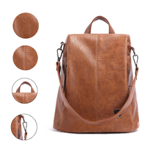 купить 2019 Brand Backpack Female New Women PU Leather Backpack Bag Anti Theft High Quality Softback Urban Fashion Backpacks For Girls по цене 1600.92 рублей