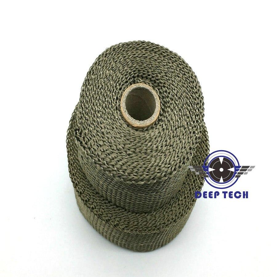 5m X 50mm Titanium Thermal Exhaust Header Pipe Heat Wrap With Steel Ties Kit