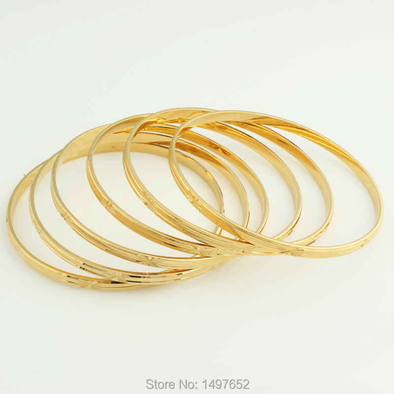 2017 New Dubai Gold Bangle Jewelry For Women Men  Gold Color Eritrean/Ethiopian/African Bangles Bracelet Jewelry