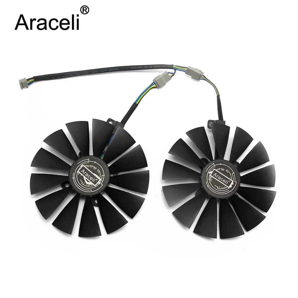 2pcs//set VGA Cooler Fan for ASUS RX470//570 GTX1080Ti 1070Ti