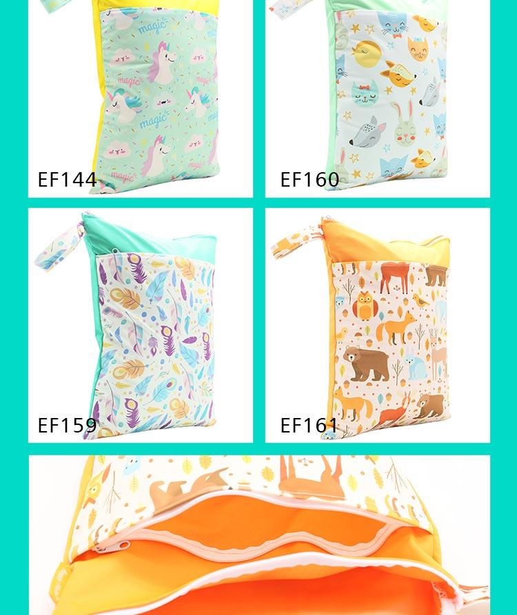 HTB1lj0iaqQoBKNjSZJnq6yw9VXaz HappyFlute Baby Diaper Bags Double Zippered Wet/Dry Bag Waterproof Wet Cloth Diaper Backpack Reusable Diaper Cover WetBag