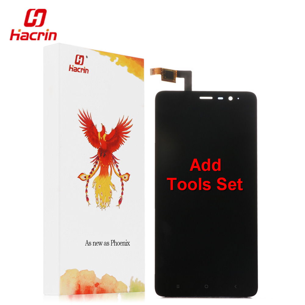 hacrin Xiaomi Redmi Note 3 LCD Display Touch Screen with Key light FHD Digitizer Assembly Replacement