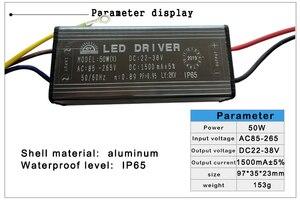 Image 5 - LED Driver 10W 20W 30W 50W 70W Adapter Transformator AC85V 265V om DC22 38V IP65 Voeding 300mA 600mA 900mA 1500mA 2100mA