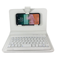 PU Leather Moblie Protective Phone Case With Bluetooth Keyboard For IPhone X 5 SE 6 7