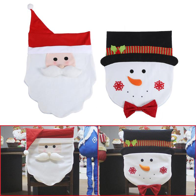 Christmas Chair Cover Party Hotel Restaurant Dinner Santa Snowman Chair Cover Christmas  ...