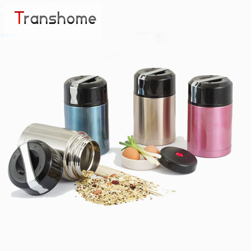 TRANSHOME Stainless Steel lunch box Thermos For Food With Containers 1000ML Bento Box