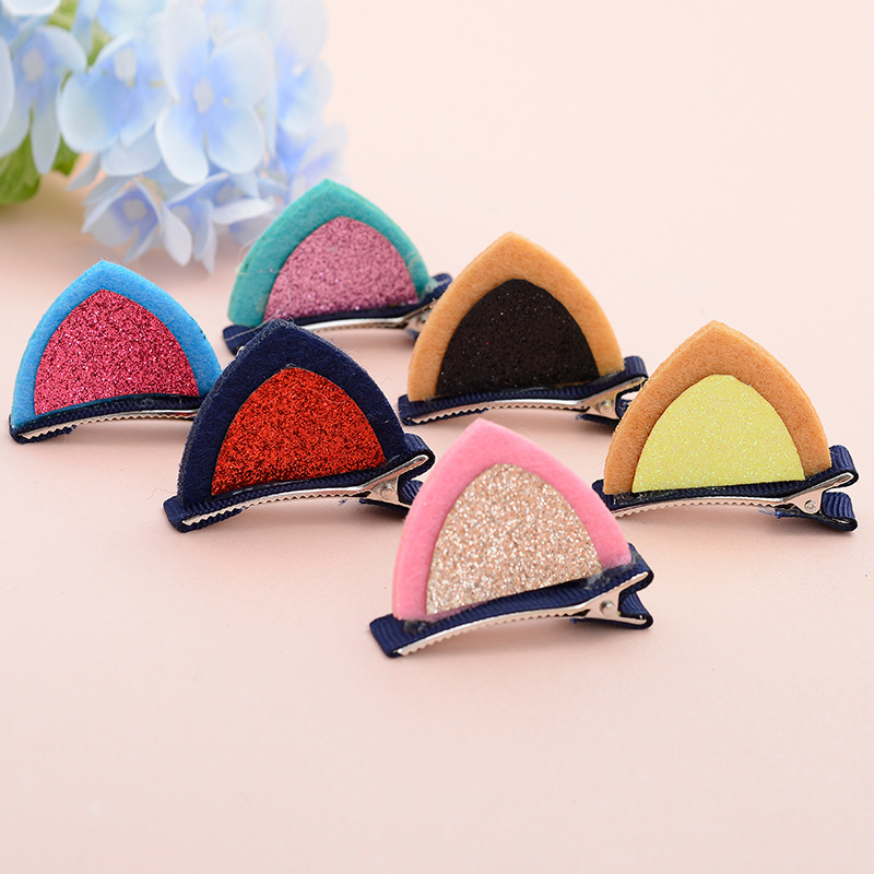 1PC Hot Kids Hair Clips Lovely Cat Ears Hairpin Headwear Children Hair Ornaments Barrettes Hair Accessories Christmas Gift