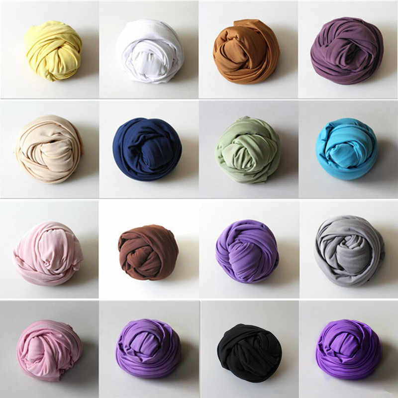 Wrap Newborn props 40X160cm Stretch Wrap Cloth Newborn Photography Props Wraps Swaddle Muslin Wraps Baby Photo Props Accessories