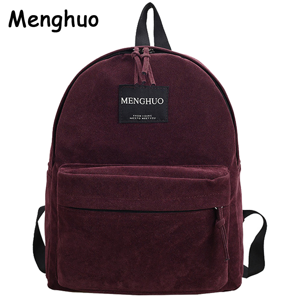 Women Backpack Preppy Suede Backpacks Girls School Bags Vintage Backpack Travel Bag Female Backpack Burgundy Gray Black Mochila zency genuine leather backpacks female girls women backpack top layer cowhide school bag gray black pink purple black color