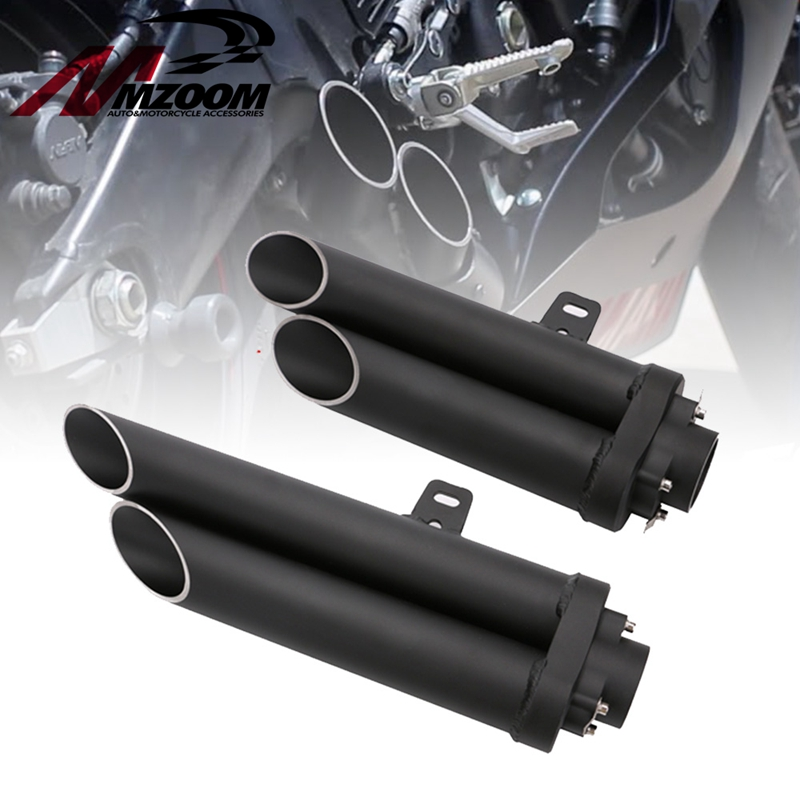 Silencer Exhaust-Pipe Suzuki Double Motorcycle-Modified Kawasaki Yamaha R6 Universal