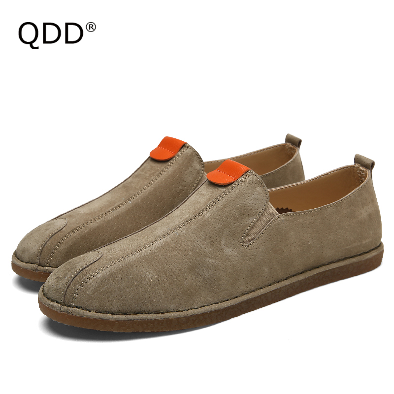 Me Myself Am Wearing & Loving It! Sueded Pig Split Leather Men Walking Shoes, Trendy Men Walking Shoes for Indoor or Outdoor.