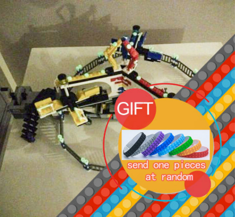 15014 1858pcs Street Series The Amusement Park Giant Stride Carnival Set Compatible with 10244 Building Blocks toy the unhappy giant level 3