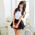 Trajes Sexy Lingerie Mulheres Quentes Boneca Exótico Estudante Da Escola marinheiro tentação uniforme terno traje cosplay outfit Clube
