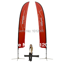 14pcs both sides printing Custom Feather Flag with free shipping to Australia
