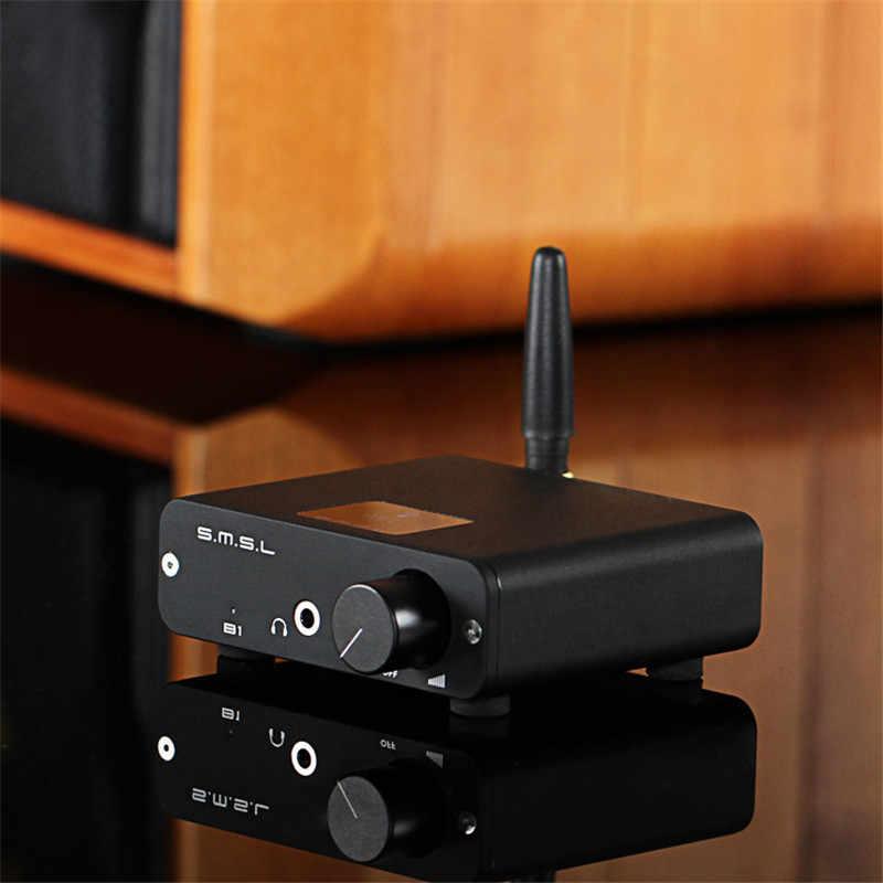 SMSL B1 ポータブルステレオ bluetooth アンプ受信機とヘッドフォンアンプ hifi アンプオーディオデコーダミニ dac オーディオアンプ