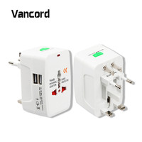 Electric Plug Power Socket Adapter International Travel Adapter Universal Travel Socket 2 USB Power Charger Converter