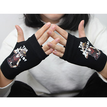 NEW for Anime Naruto Fate Saber Assassins Creed Glove Batman Ram SAO One Piece Half-fingered Gloves Cosplay Costumes Mittens