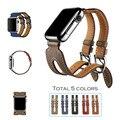URVOI группа для apple watch Серии 2 genuin кожаный ремень двойной Пряжкой Манжеты для iwatch Современный дизайн моды 38 мм 42 мм доступны