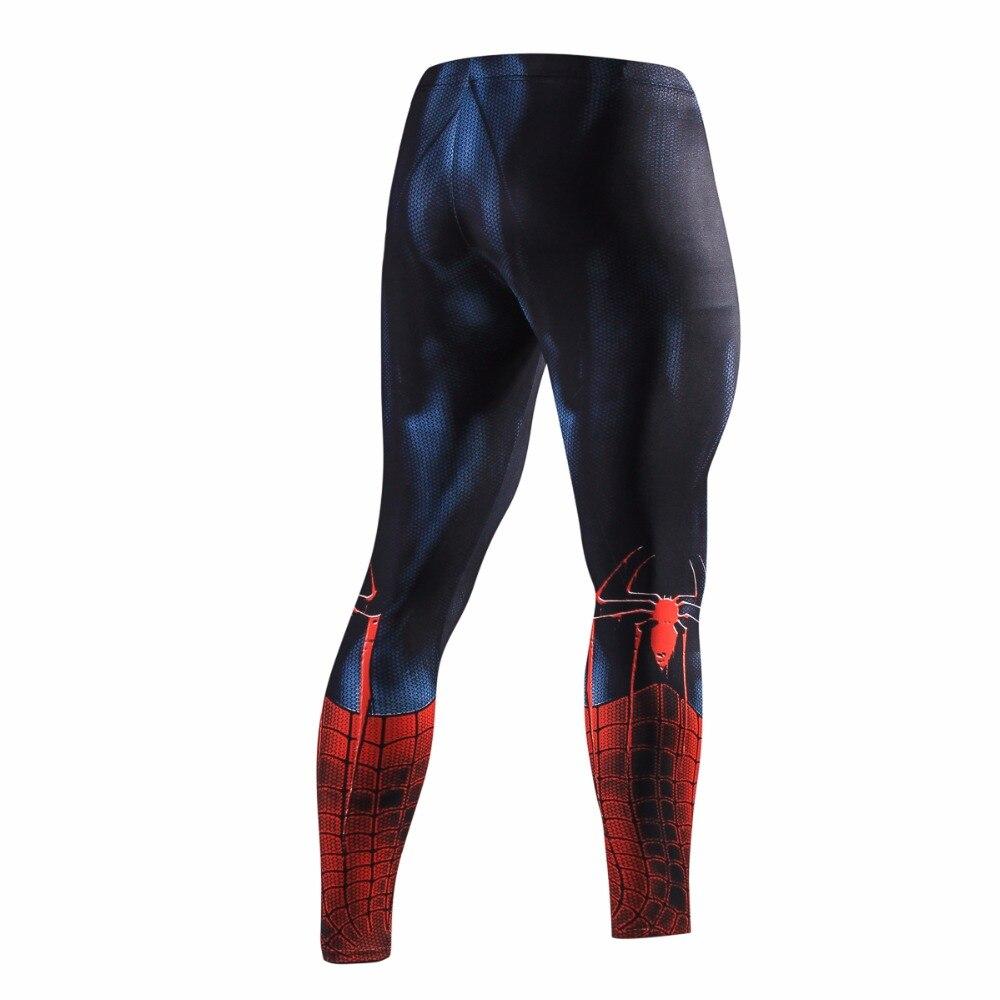 Men Skinny Sweatpants Compression Pants Men Fashion Leggings Jogger Men 3D Fitness Bodybuilding Pants Spider-Man  Elastic Trouse