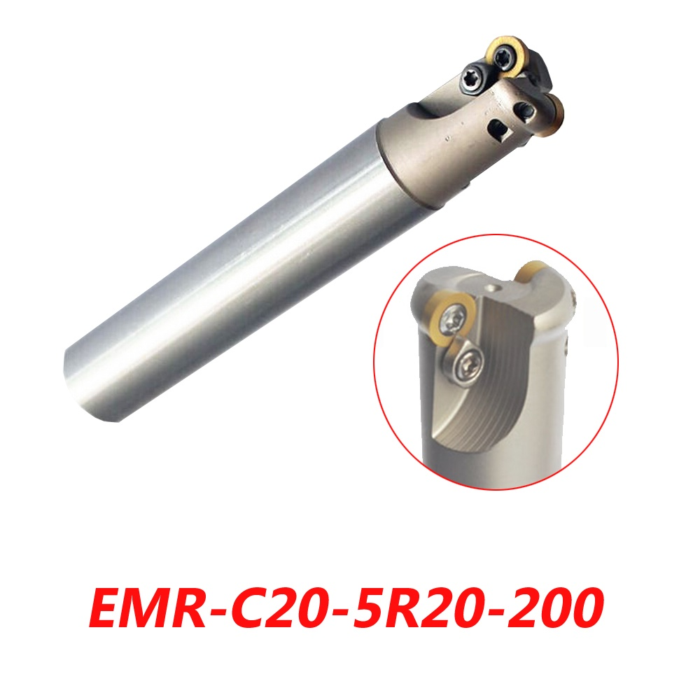 Free Shipping EMR-C20-5R20-200 Indexable Face Milling Cutter Tools For RPMW1003MO Carbide Inserts Suitable For NC/CNC Machine  цены